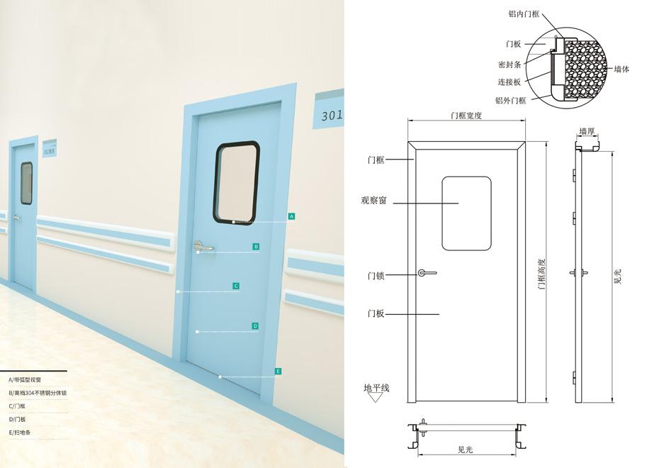 医用洁净钢制门的安装步骤【含图文】