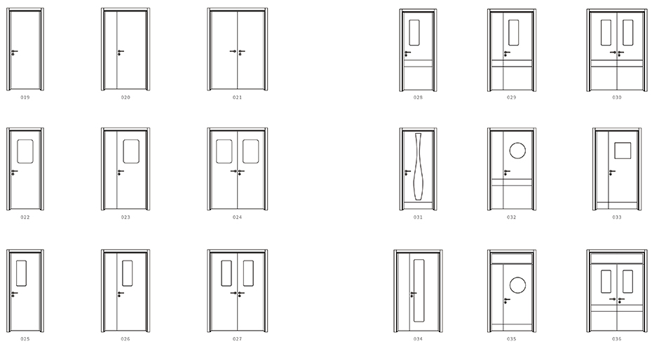 医用门款式图