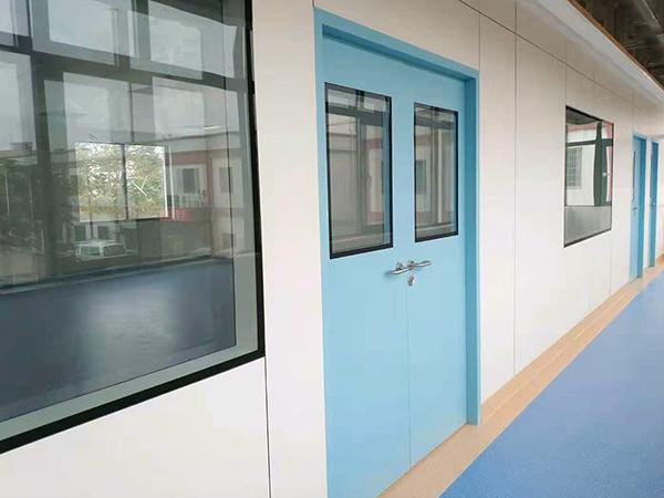 中山大学附属第七医院批量安装林森铝钢洁净门