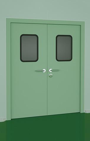 钢制洁净门机制板对夹式